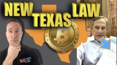 TEXAS GOVERNOR SIGNS NEW BLOCKCHAIN LAW. BITCOIN MINING?