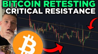 BITCOIN RETESTING CRITICAL RESISTANCE RIGHT NOW!!!!!
