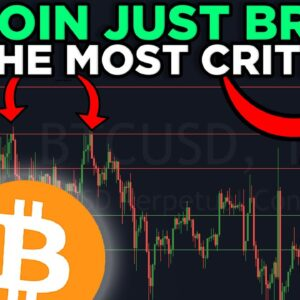 BITCOIN ABOUT TO EXPLODE!!!! WE JUST BROKE THE MOST CRITICAL LEVEL OF RESISTANCE!!!!!