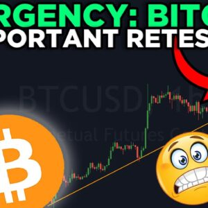 EMERGENCY: BITCOIN RETRACING TO AN IMPORTANT SUPPORT LINE!!! [watch fast]
