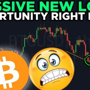 NEW LONG OPPORTUNITY!! BITCOIN WILL BOUNCE BECAUSE OF THIS....